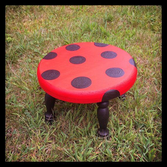 Ladybug Toddler Step Stool Ladybug Decor Hand Painted