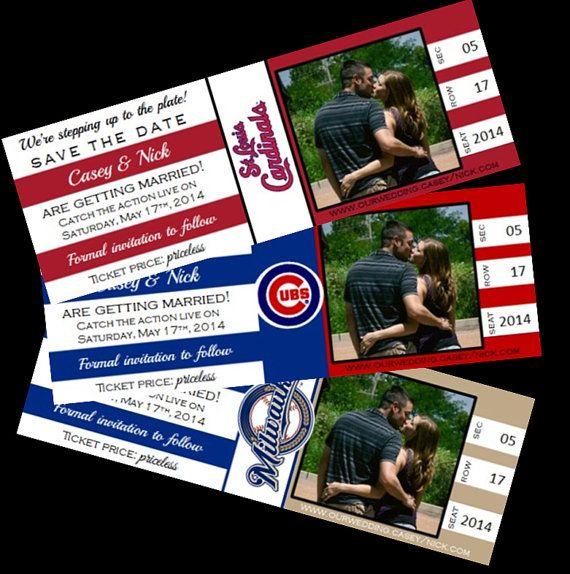 Baseball Save the Dates Baseball Theme Wedding by yourdayinvites, $1.75