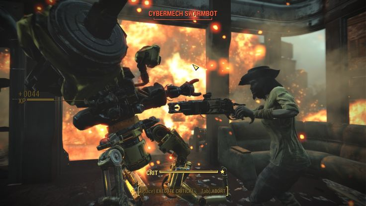 Awesome screenshot care of VATS of a minuteman fighting a swarmbot #Fallout4 #gaming #Fallout #Bethesda #games #PS4share #PS4 #FO4