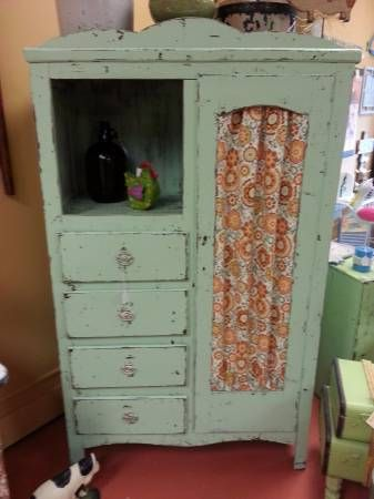 Old Chifferobe given a facelift..lots of storage!