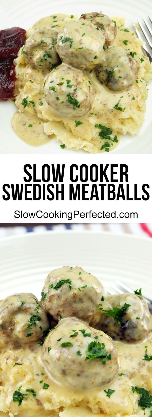 Creamy n Delicious Slow Cooker Swedish Meatballs