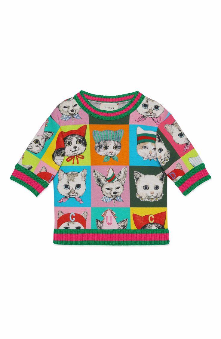 Main Image - Gucci Graphic Sweatshirt (Little Girls & Big Girls)