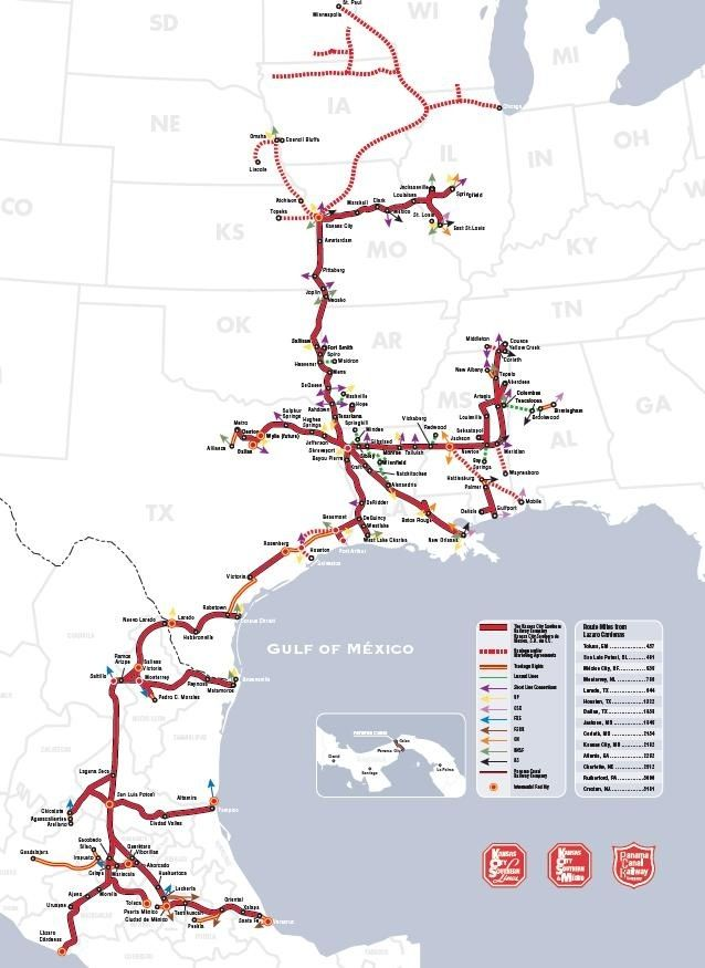 Kansas City Map Usa bildergebnis fr kcs kansas city southern railway ...