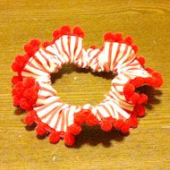 scrunchie sewing with pompom lace sewing tutorial