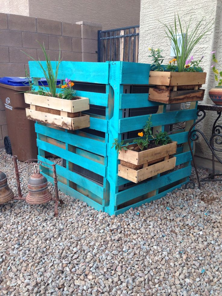 http://teds-woodworking.digimkts.com/ Anyone can do this with the right plans woodworking ideas Diy ac unit cover with pallets