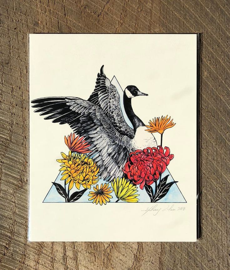 Canada goose 8x10 print etsy 8x10 print pen and