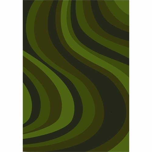 Joy Carpets Whimsy On the Curve Green Contemporary Kids Rug