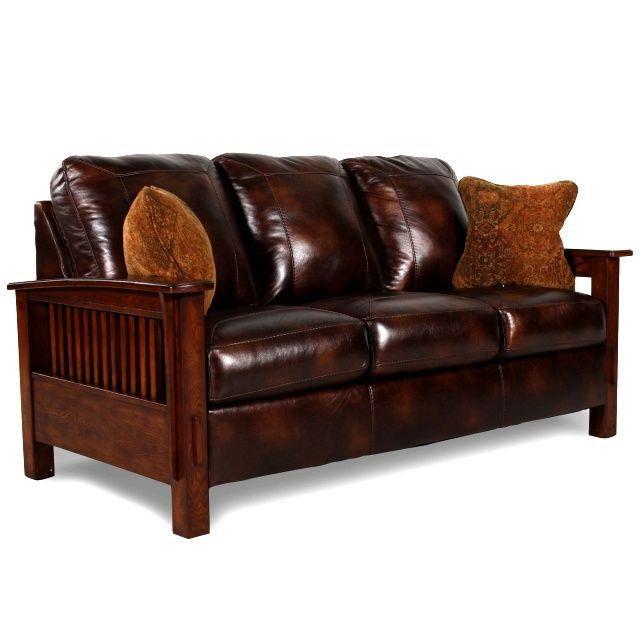 Mission Craftsman Morris Leather Sofa