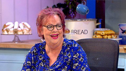 """Comedienne & """"Great Comic Relief Bake Off"""" alum Jo Brand hosts spin-off show """"The Great British Bake Off: An Extra Slice"""" on BBC Two 