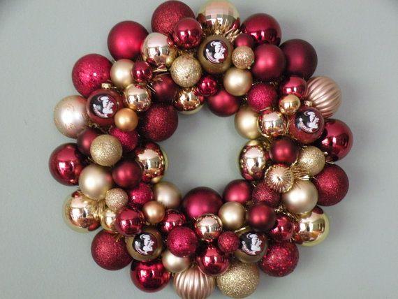 fsu wreath | FLORIDA STATE SEMINOLES Ornament Wreath by dottiegray on Etsy