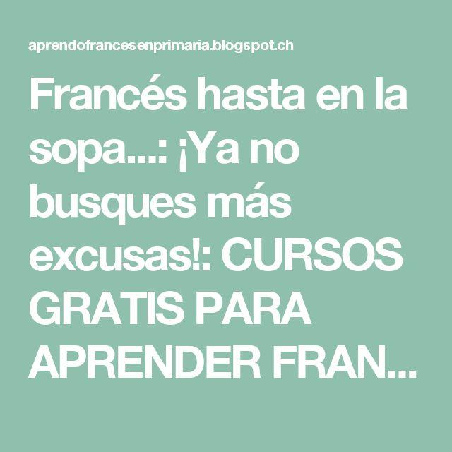 Francés hasta en la sopa...: ¡Ya no busques más excusas!: CURSOS GRATIS PARA APRENDER FRANCÉS