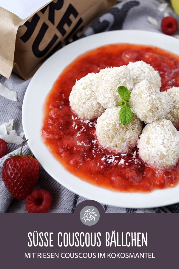 Süße Couscous Bällchen