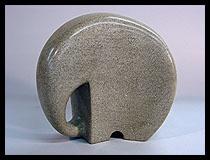 .Marble elephant figurine. t