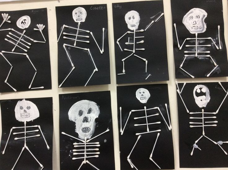 Our children LOVED making this with Q tips and we discussed the various bones we have, revised the sk for skeleton blend and enjoyed SKIN AND SKELETONS from Literacy Tower books and various Halloween books from reading a-z We have also written many spooky stories after completing these! I find that art ALWAYS gets the brain working and ready for learning!