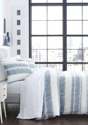 City Scene  Enzo Comforter Set - Open Medium Blue - Twin