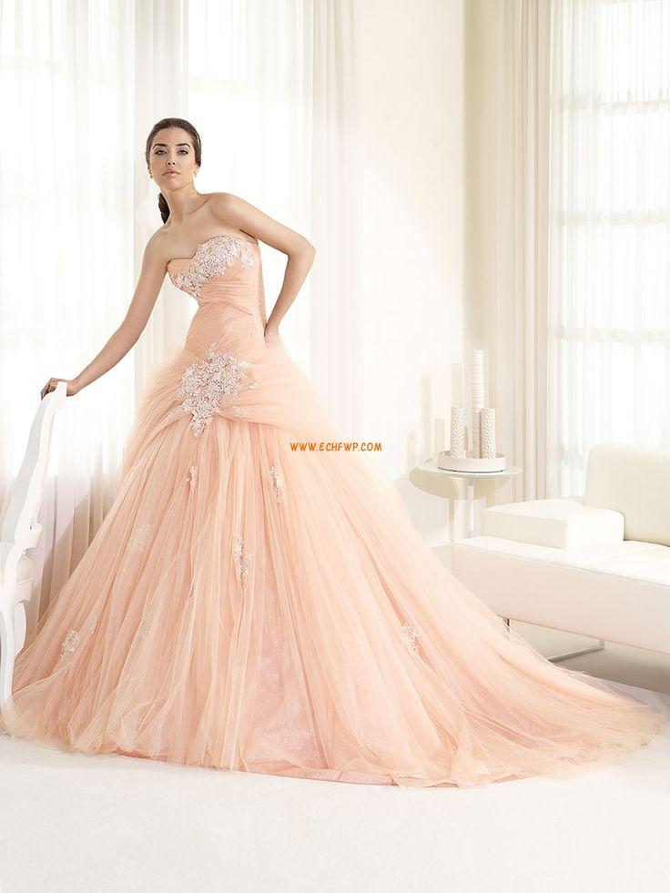 Cola Capilla Flores Natural Vestidos de novias 2014
