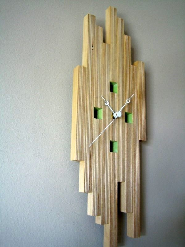 Plywood Clock Cnc Inspiration Pinterest Clock