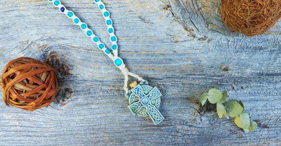 Celtic Cross Rosary Celtic Cross Bottle by MysticKeyMeditations