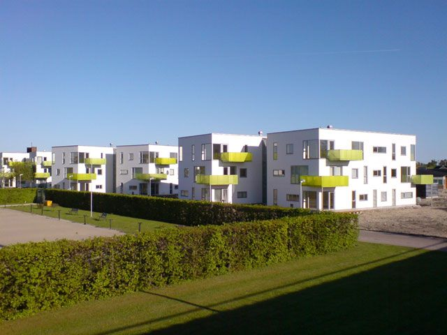 Ny opførte boliger ved æblehaven i Brøndby strand