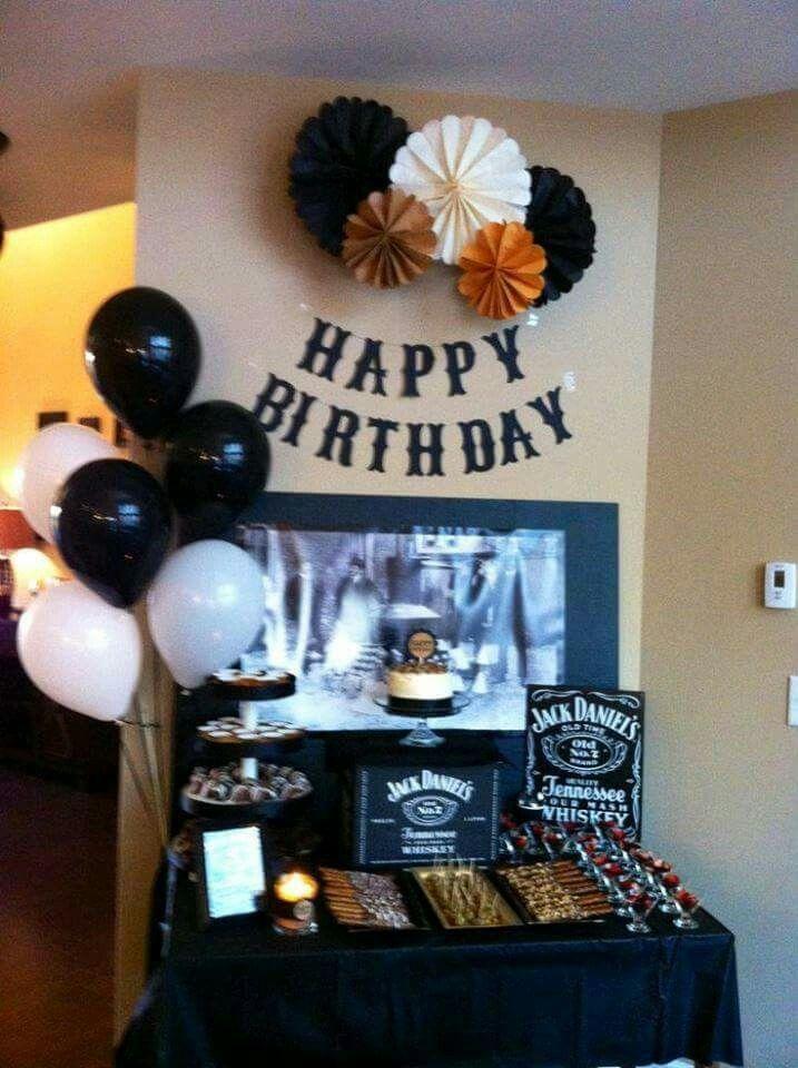 Mesa 35 a os bebidss pinterest fiestas ideas para and birthdays - Birthday decorations for mens th ...