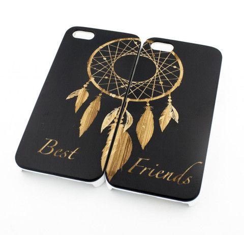 Black Bamboo Wood Case - Best Friends Forever / Dreamcatcher Matching Case