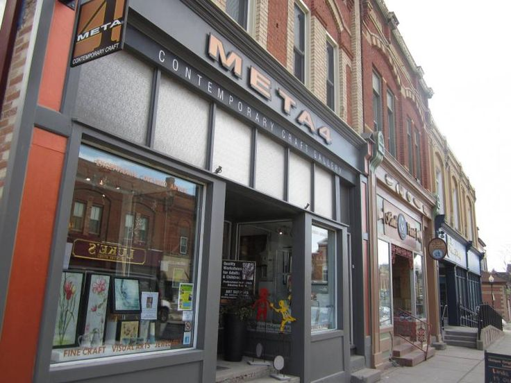 Port Perry's charming downtown shops: META4 Contemporary Art Gallery