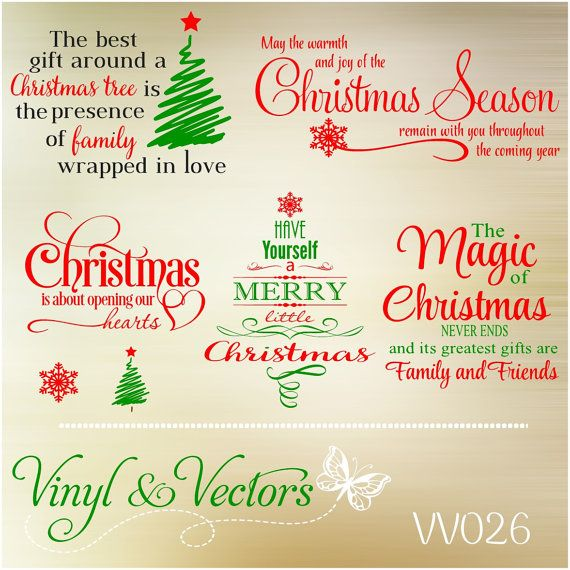 Christmas Svg Vector Cutting File Vinyl Decals Amp Crafts