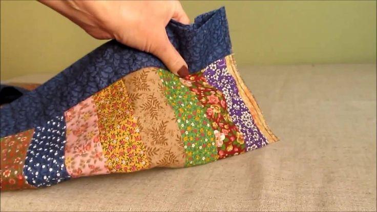 Como fazer um trilho de mesa em patchwork colorido e fácil.