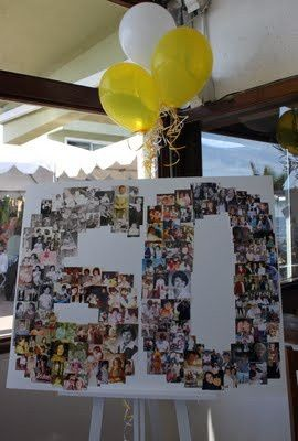 60th photo birthday board