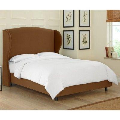 Skyline Tilton Fenwick Wingback Bed - Velvet - Skyline Furniture, Velvet Mocha