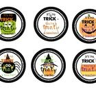 "Six different Halloween teacher gift tags! Adorable Frankenstein, pumpkin, ghost, spider, candy corn, and owl graphics with message ""It's no TRICK ..."