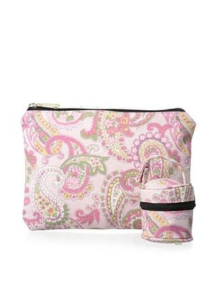 53% OFF The Bumble Collection Pacificer Pod & Zipper Bag, Pink Paisley