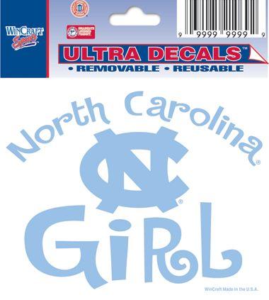 "North Carolina Tar Heels ""North Carolina Girl"" Ultra Decal 3""x4"""