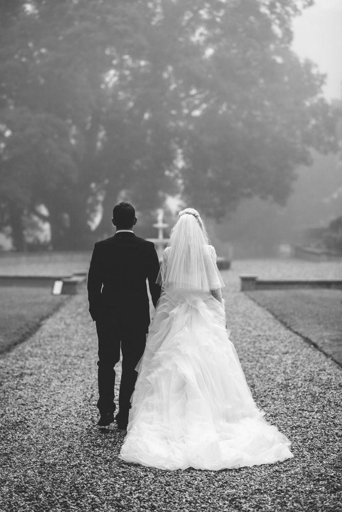 Beautiful shot of Laurie in her custom made Ella Moda gown #ellamoda #bride #weddingdress #blackandwhite