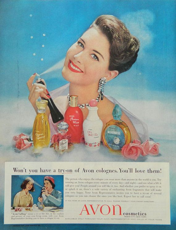 Avon magazine ad 1958 Avon collectible vintage by DustyDiggerLise