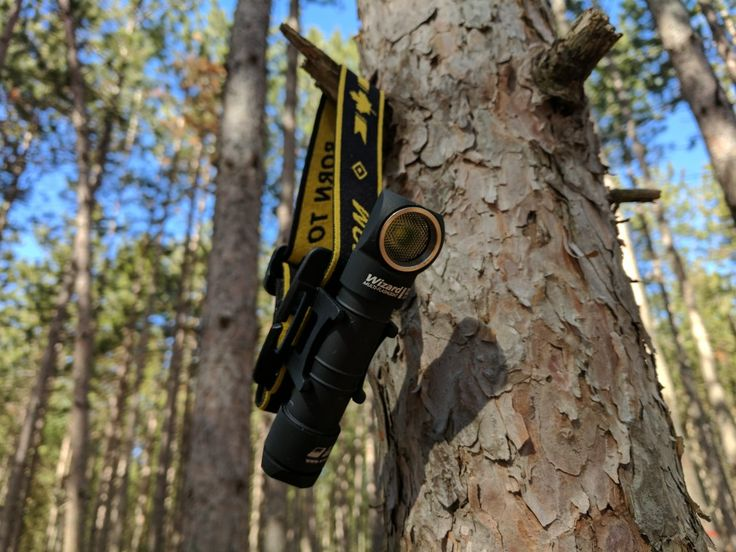 Armytek Wizard Pro headlamp/flashlight. 2300 lumens, magnetic end cap, pocket clip, and headlamp bands now on Http://ManCamping.ca/GearShop