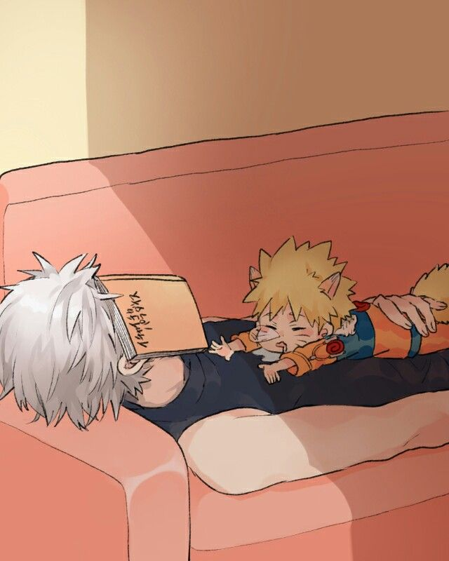 Kakashi and Naruto :3 So Adorable!