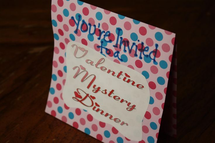 Fun way to celebrate Valentine's Day with your family. A Valentine Mystery Dinner complete with free printables.  Kids love getting a mystery menu and silly food. Our favorite tradition.