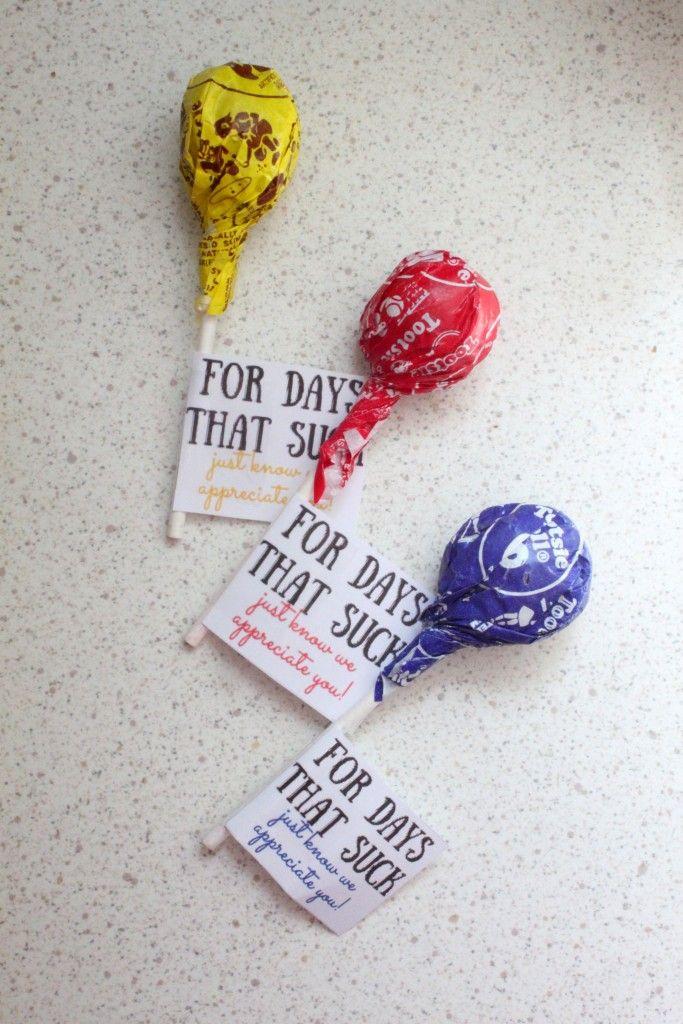 Free Printable Lollipop Wraps for Police Appreciation Week