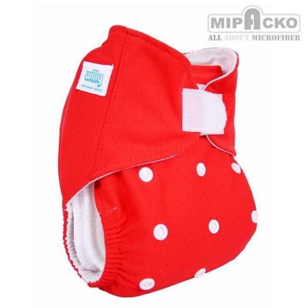 Popok Kain Willy Pocket Velcro Red Set (PV 550502)