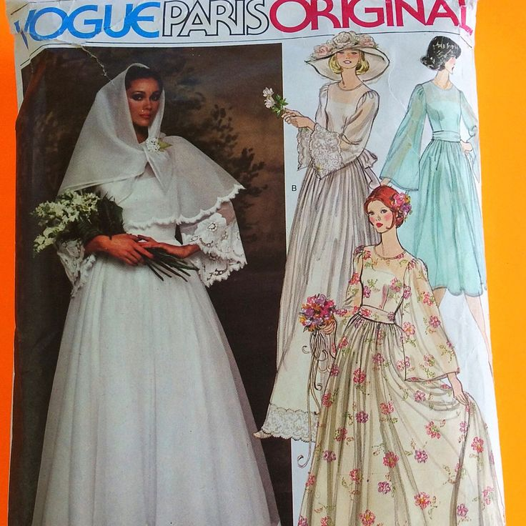"Just listed! Stunning 70s NINA RICCI Wedding Dress, Belt and Scarf, Bust 36"""