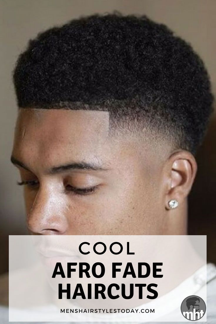 Afro Taper Fade Haircut Black Men Haircuts Pinterest Afro Fade