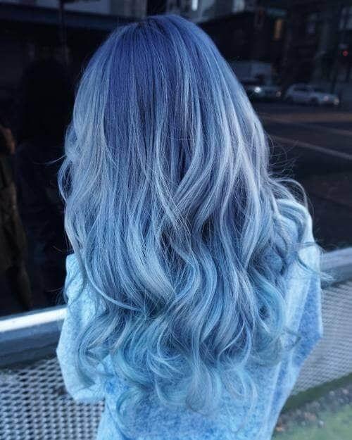 Blaue Haar-Ideen