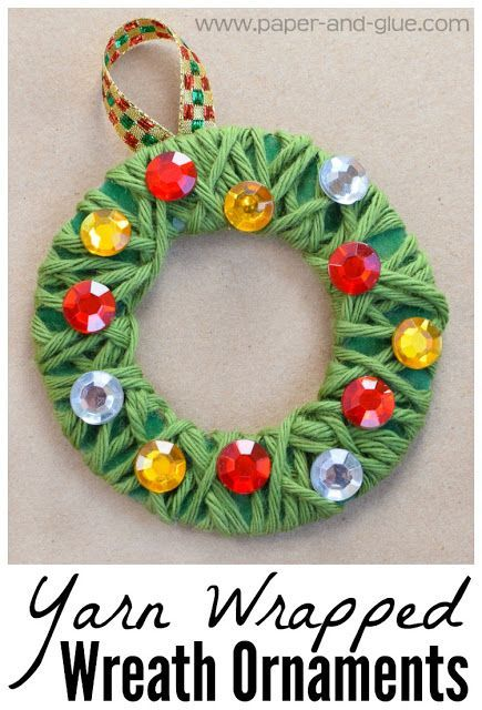 454 best homemade ornaments images on pinterest for Christmas crafts for kindergarten class