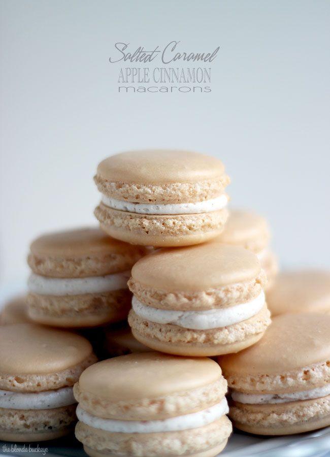 Salted Caramel Apple Macarons | The Blonde Buckeye