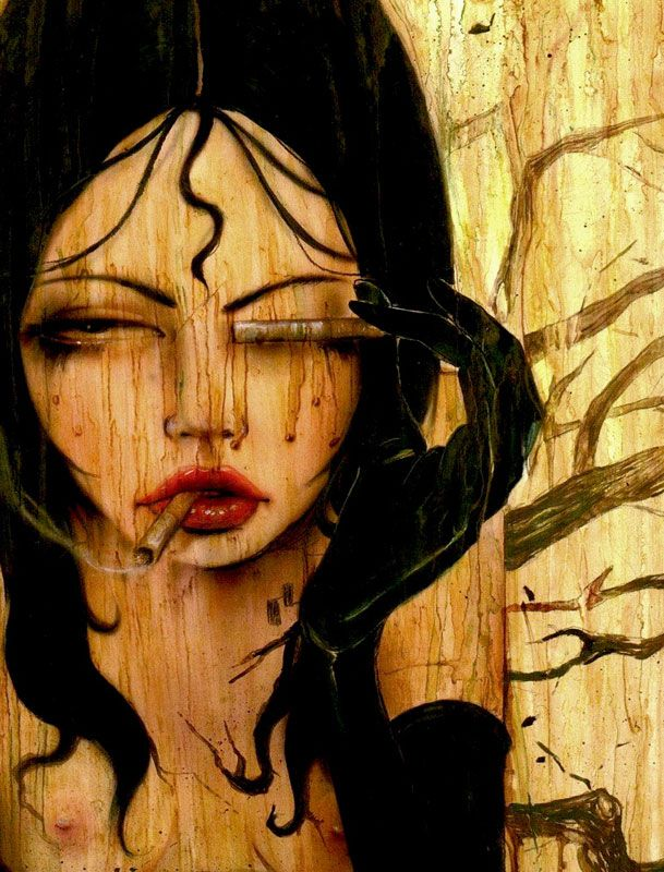 cig: Girl, Inspiration, Illustration, Brian Viveros Art, Viveros Artworks, M Viveros Art, Art Brian, Dirty Glass