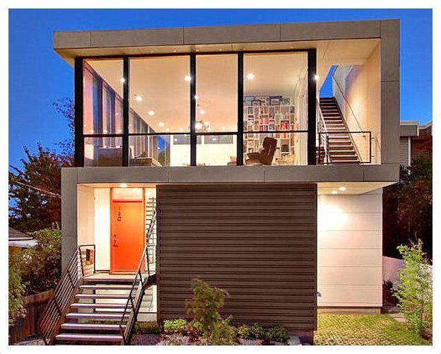Mejores 23 im genes de casas peque as con estilo en for Arquitectura moderna casas pequenas