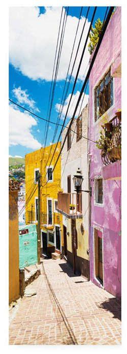 Philippe Hugonnard Viva Mexico 2 Street Scene Guanajuato Canvas Art – 15.5 x 21