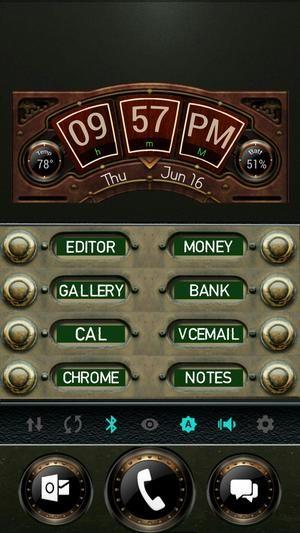 Steampunk, custom zooper time-weather widget, buttons, - Stephen Fluck 's…
