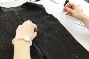Making of the Chanel Little Black Jacket: Stitching.  © Chanel